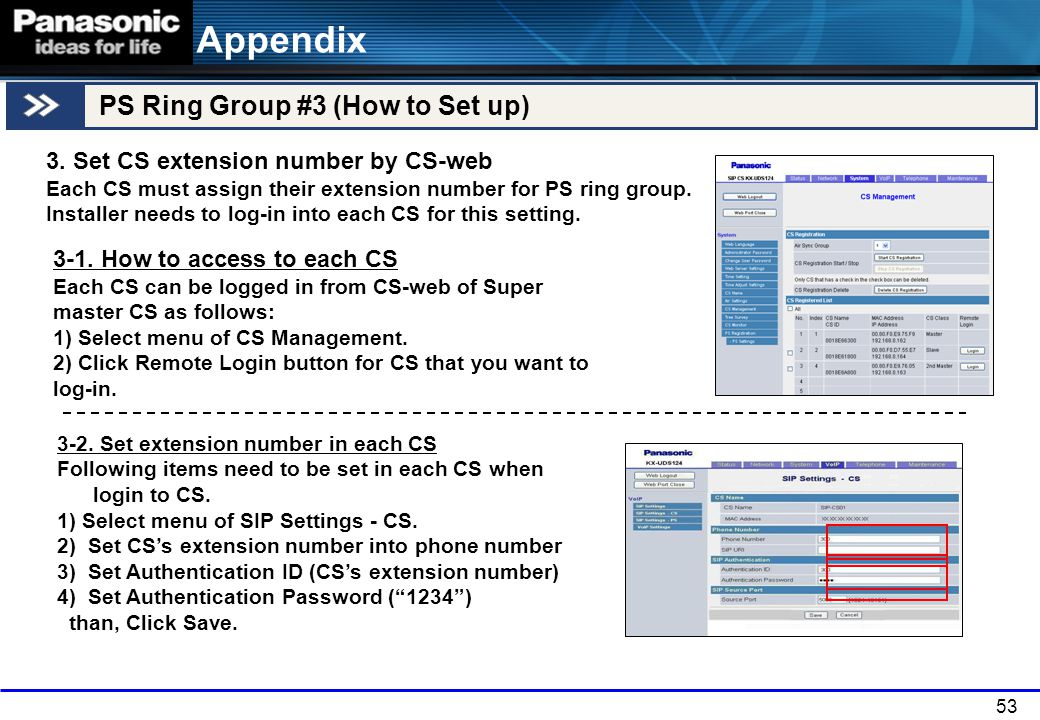 Appendix PS Ring Group #3 (How to Set up)
