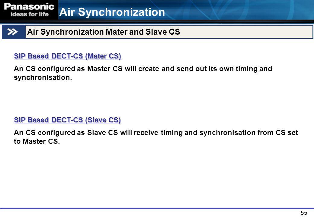 Air Synchronization Air Synchronization Mater and Slave CS