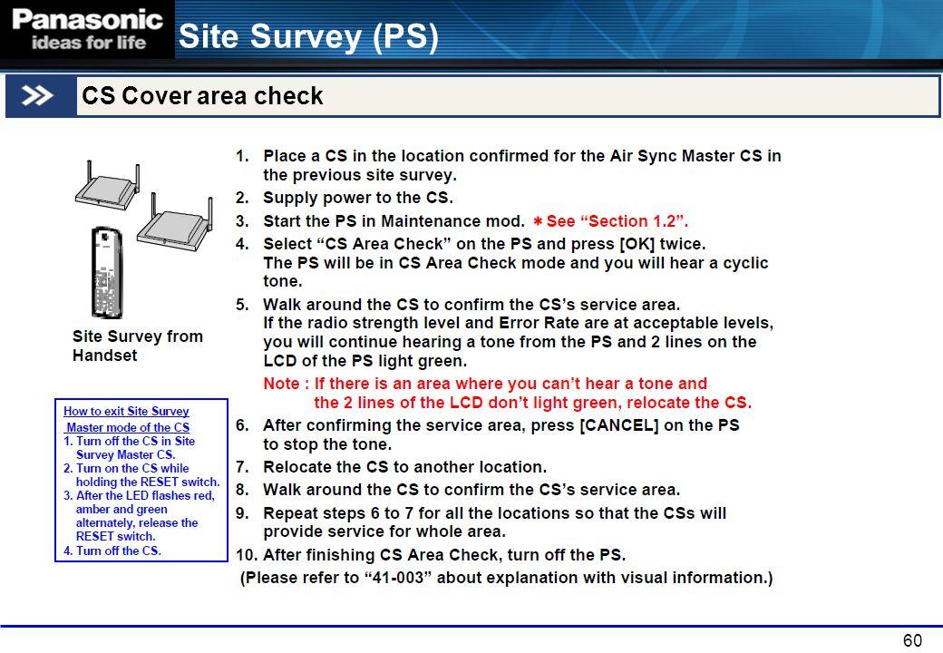 Site Survey (PS) CS Cover area check