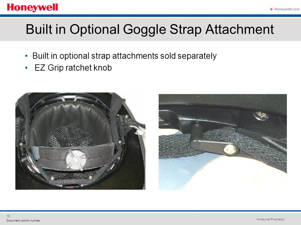 Built in Optional Goggle Strap Attachment