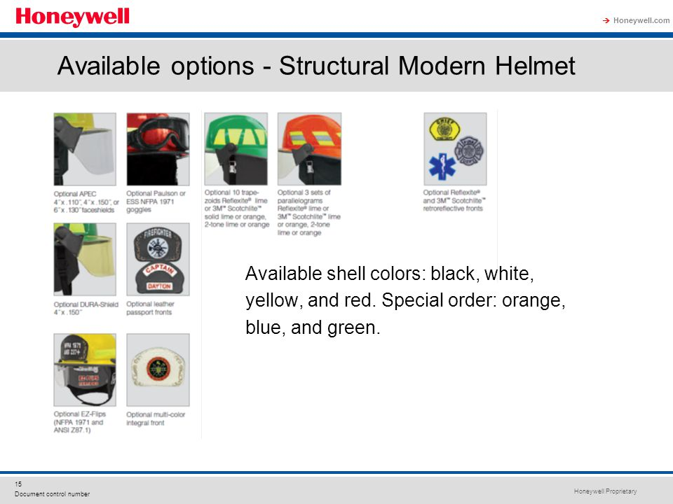 Available options - Structural Modern Helmet