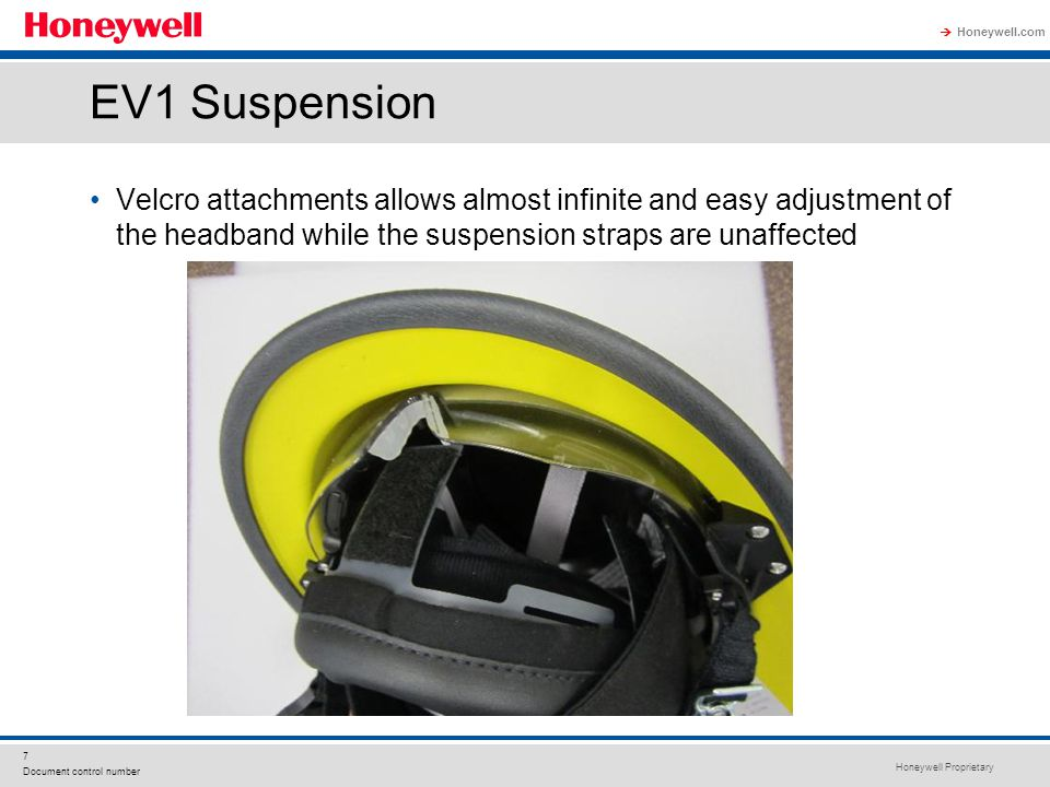 EV1 Suspension Velcro attachments allows almost infinite and easy adjustment of the headband while the suspension straps are unaffected.