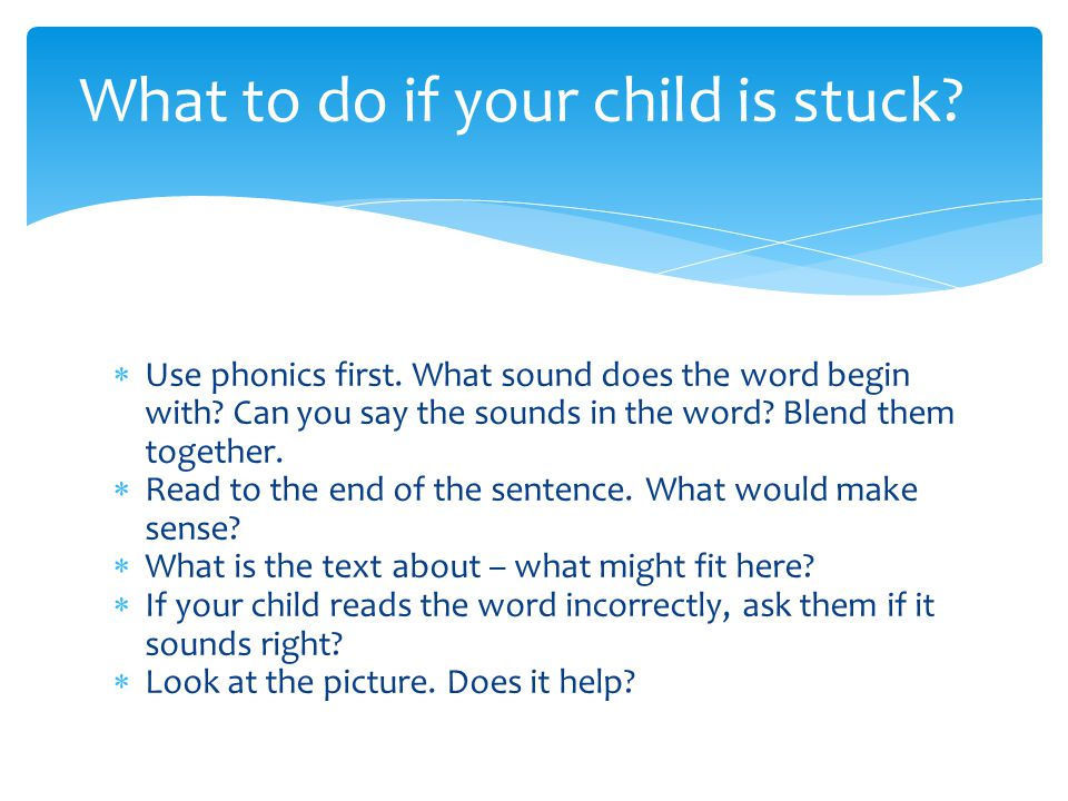What to do if your child is stuck