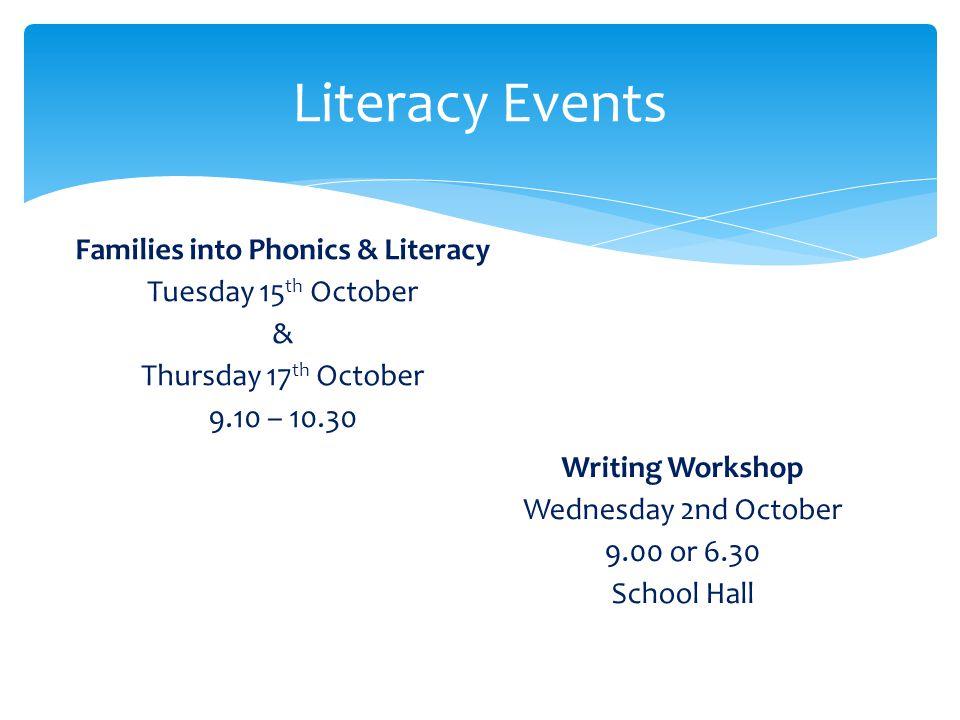 Families into Phonics & Literacy