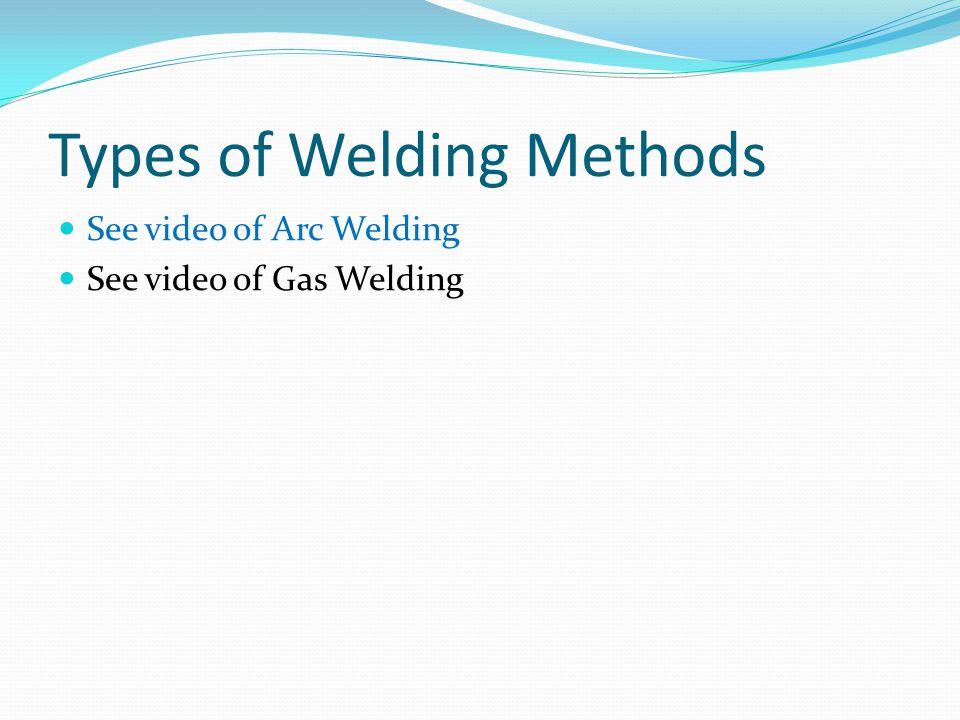 Types of Welding Methods