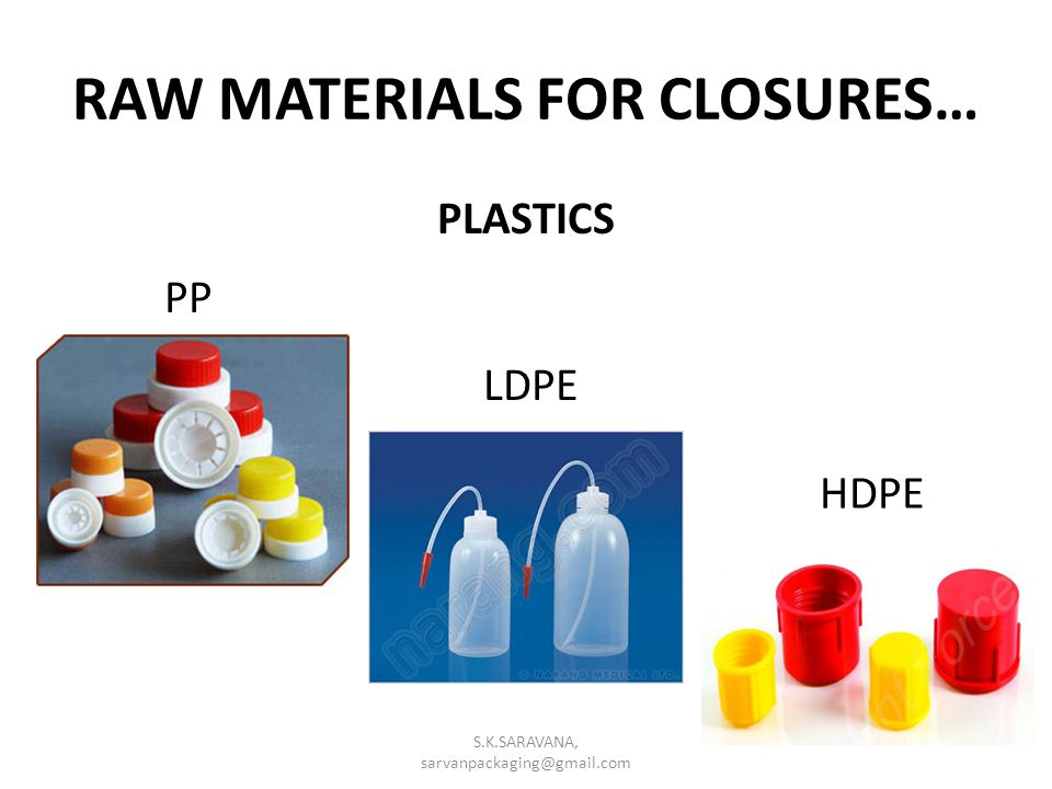 RAW MATERIALS FOR CLOSURES…