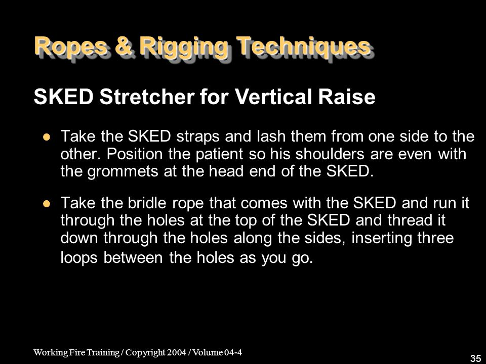 Ropes & Rigging Techniques