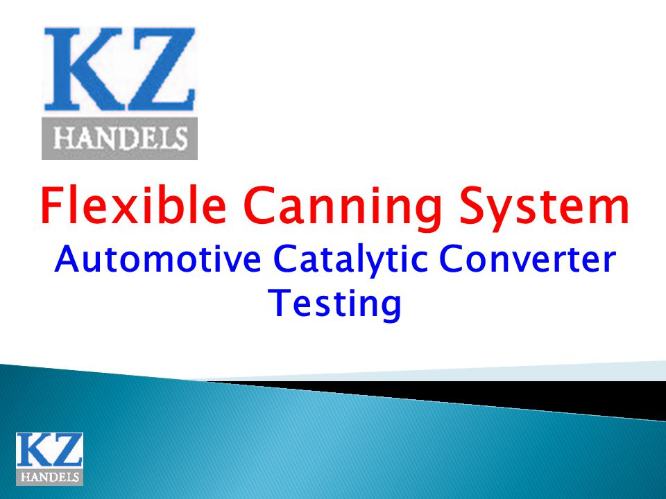 Flexible Canning System Automotive Catalytic Converter