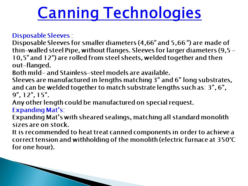 Canning Technologies Disposable Sleeves :