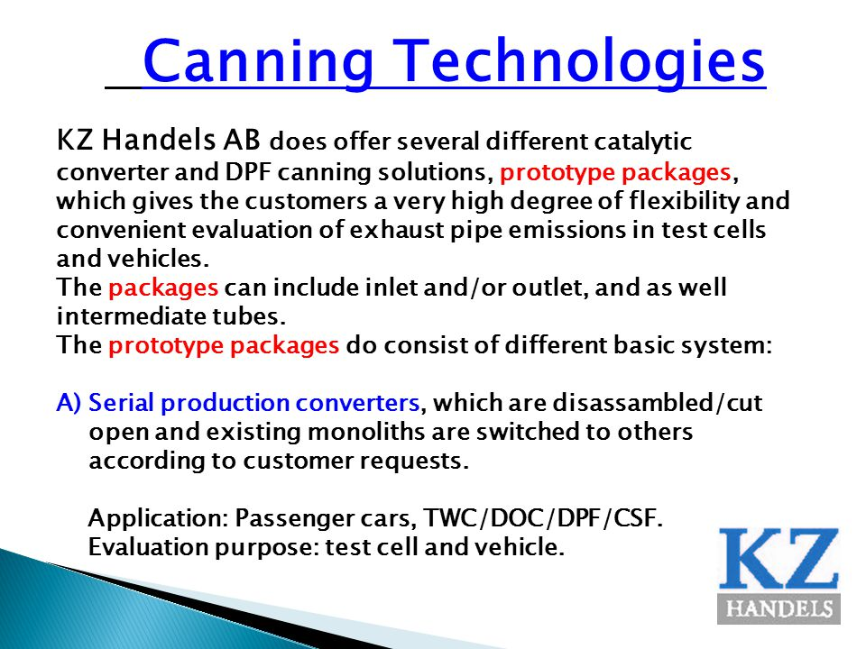 Canning Technologies