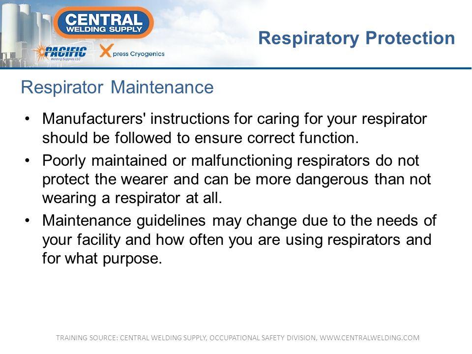 Respirator Maintenance