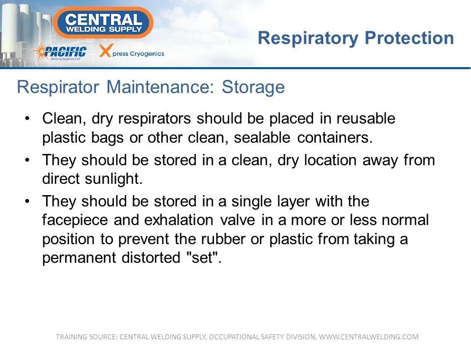 Respirator Maintenance: Storage