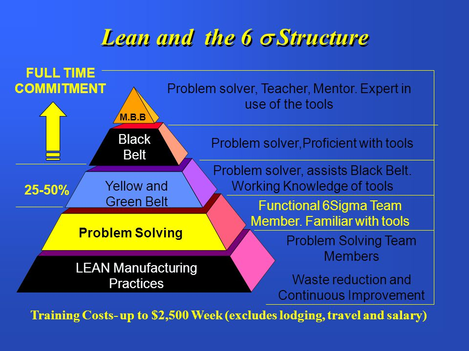 Lean and the 6  Structure