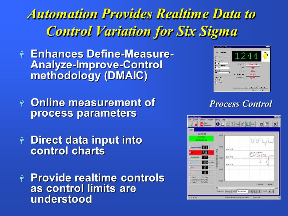 Automation Provides Realtime Data to Control Variation for Six Sigma