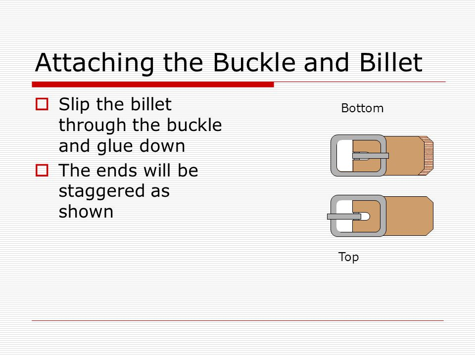 Attaching the Buckle and Billet