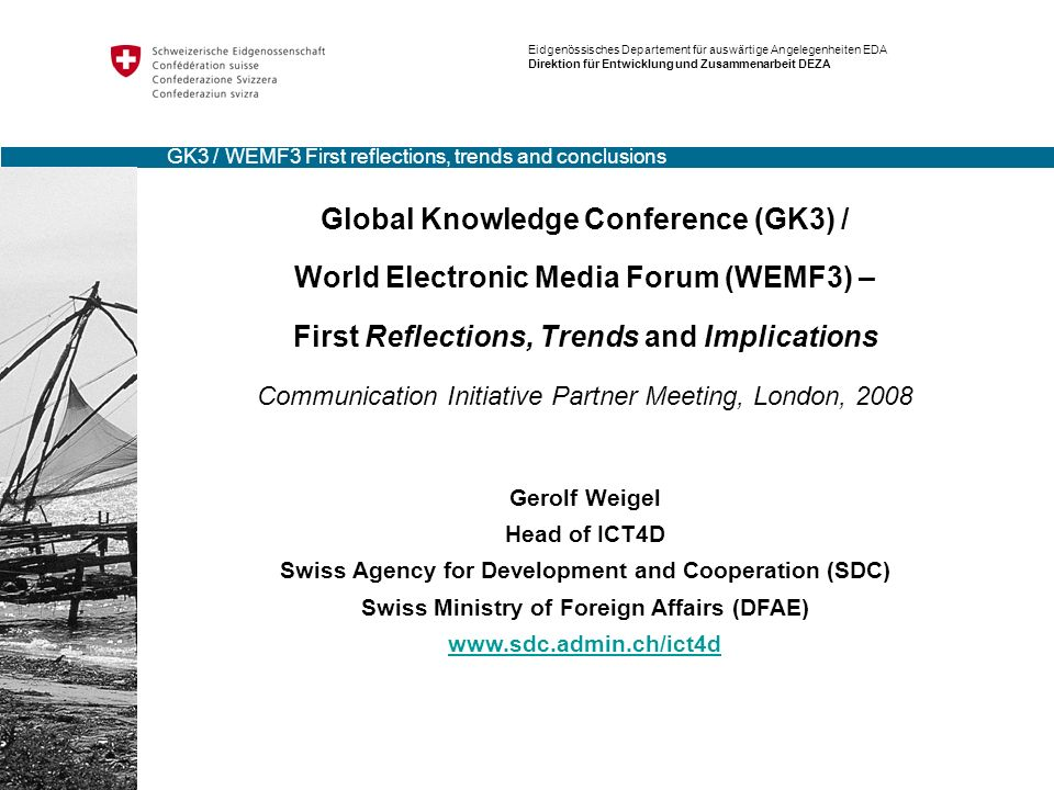 Global Knowledge Conference (GK3) /