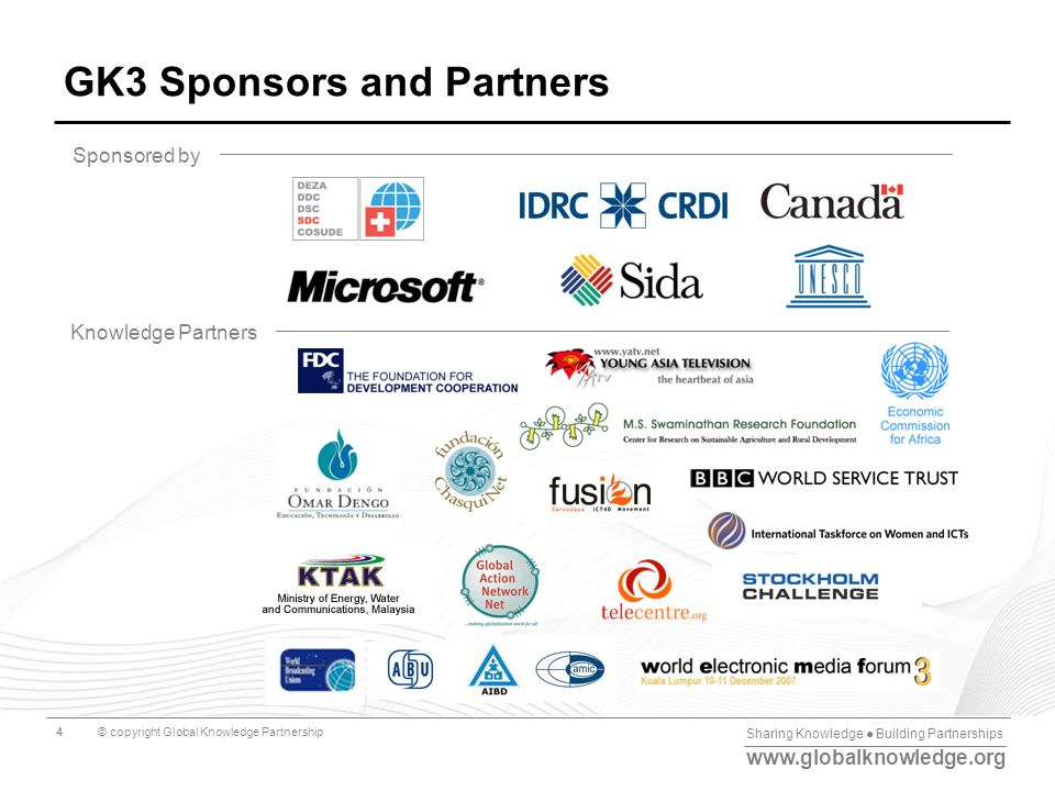 GK3 Sponsors and Partners