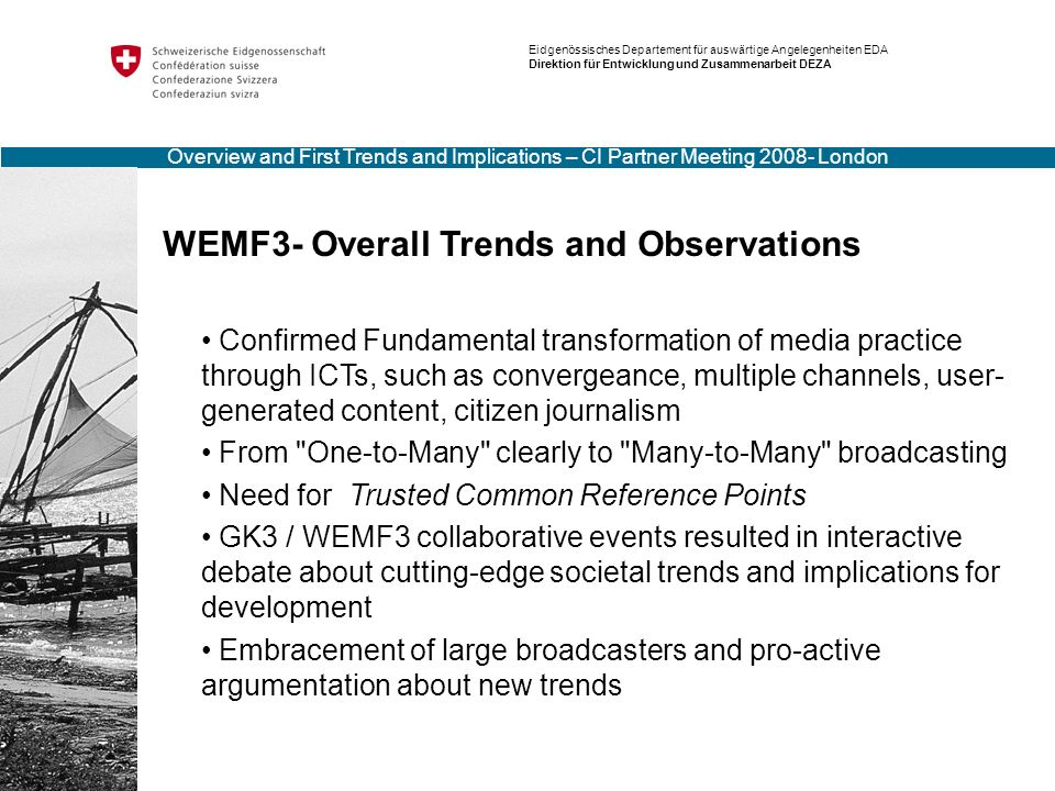 WEMF3- Overall Trends and Observations