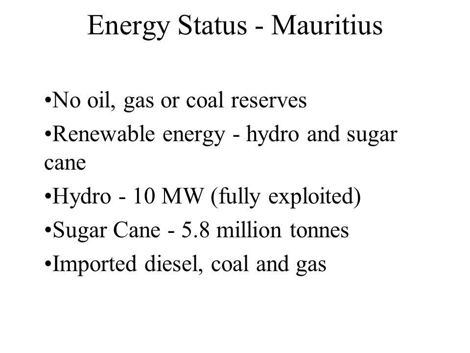 Energy Status - Mauritius