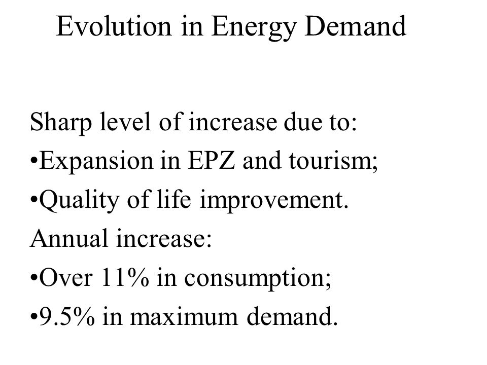 Evolution in Energy Demand