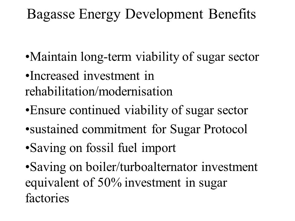 Bagasse Energy Development Benefits