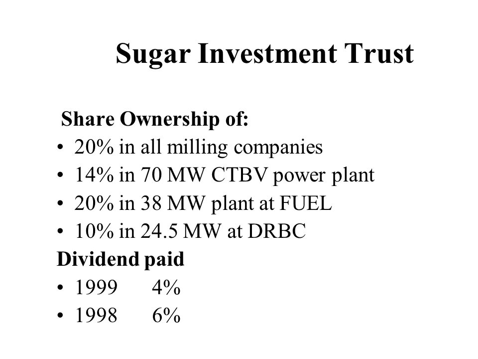 Sugar Investment Trust