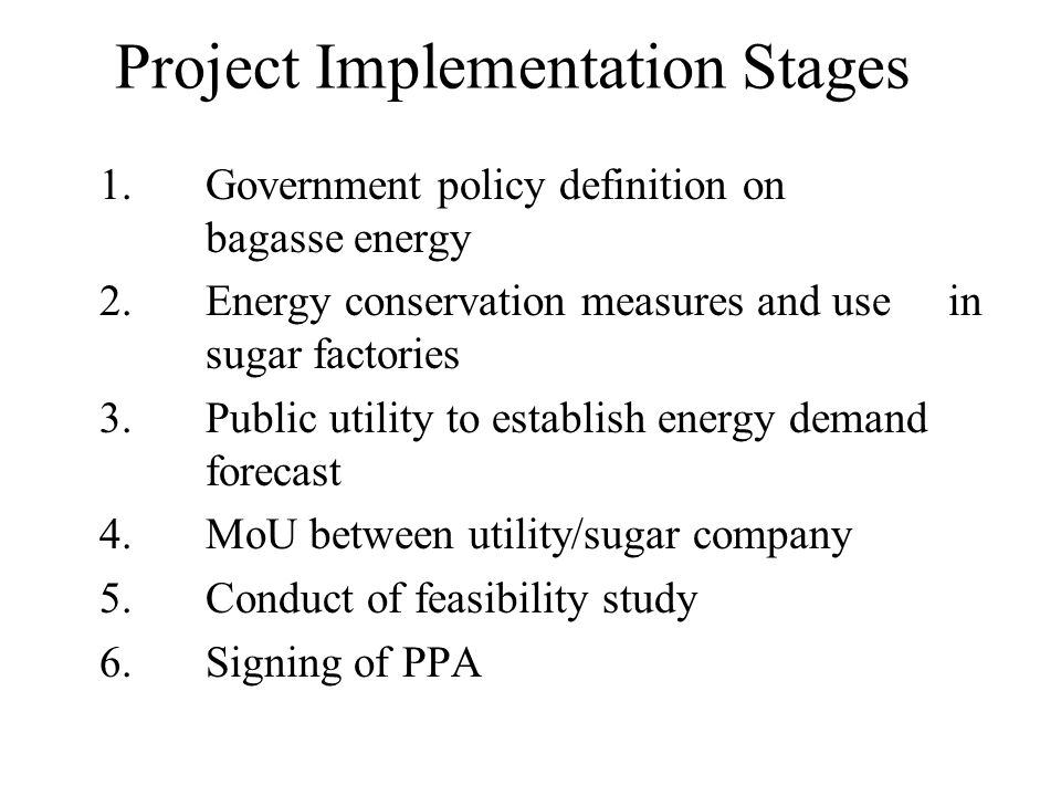 Project Implementation Stages