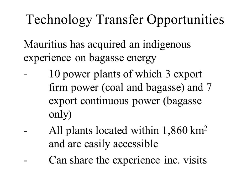 Technology Transfer Opportunities