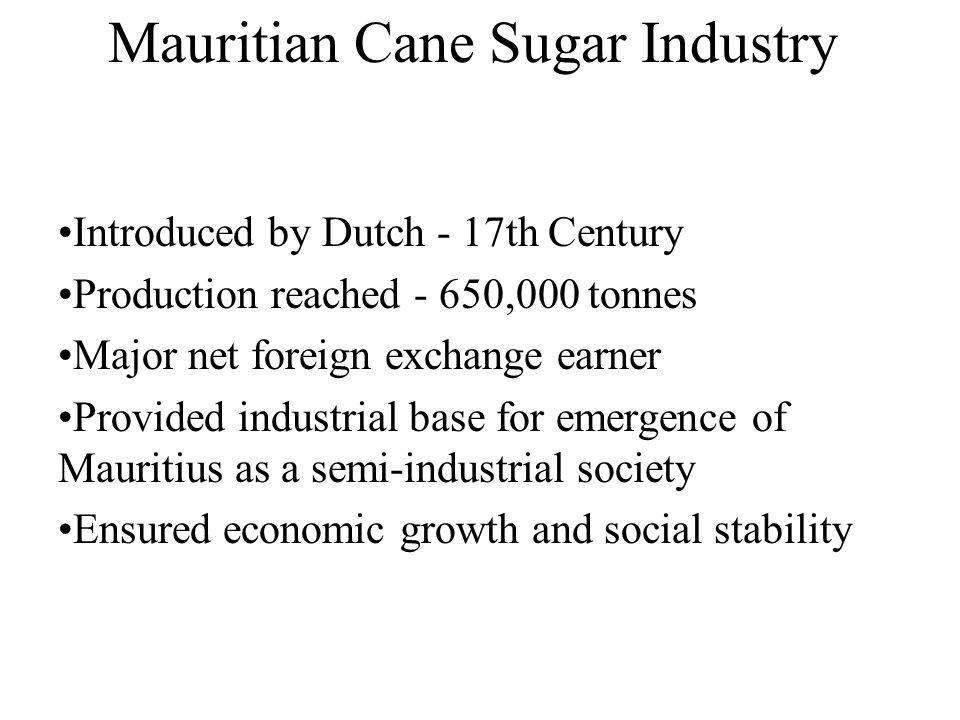 Mauritian Cane Sugar Industry