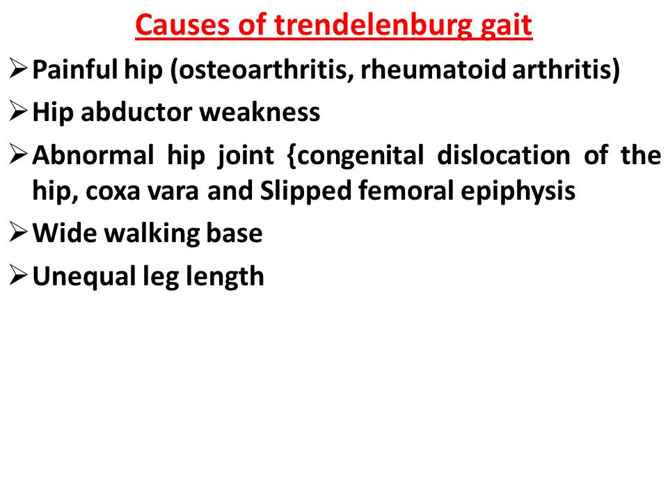 Causes of trendelenburg gait