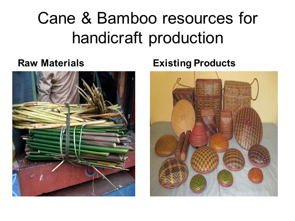 Cane & Bamboo resources for handicraft production