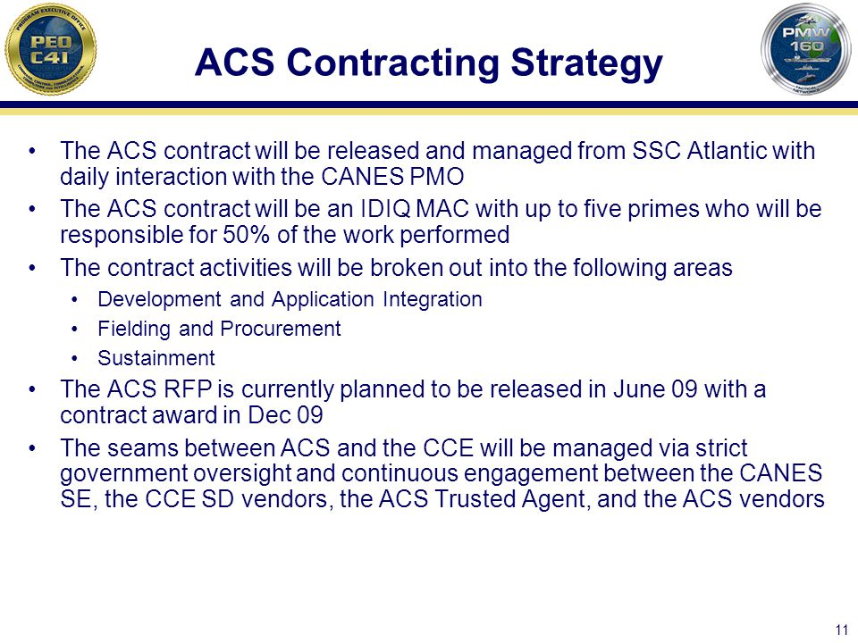 ACS Contracting Strategy