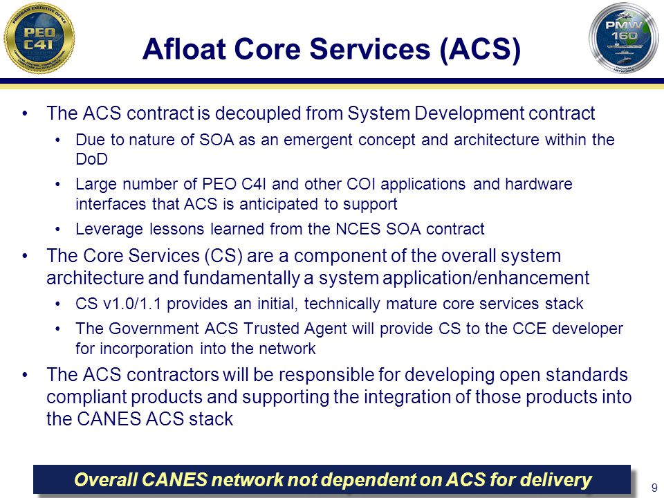 Afloat Core Services (ACS)