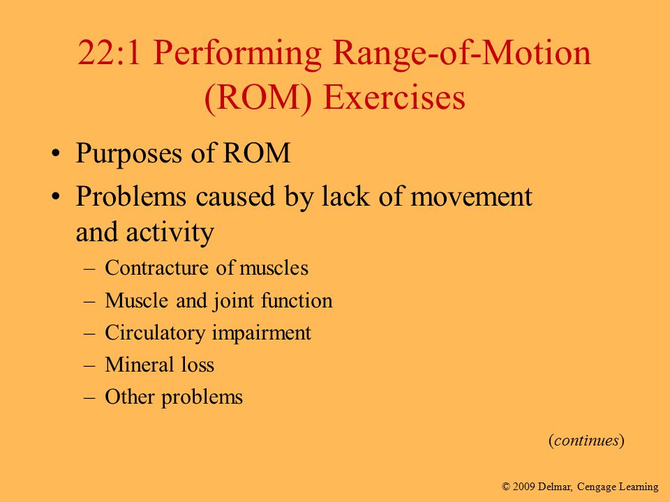 22:1 Performing Range-of-Motion (ROM) Exercises