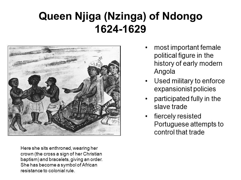 Queen Njiga (Nzinga) of Ndongo 1624-1629