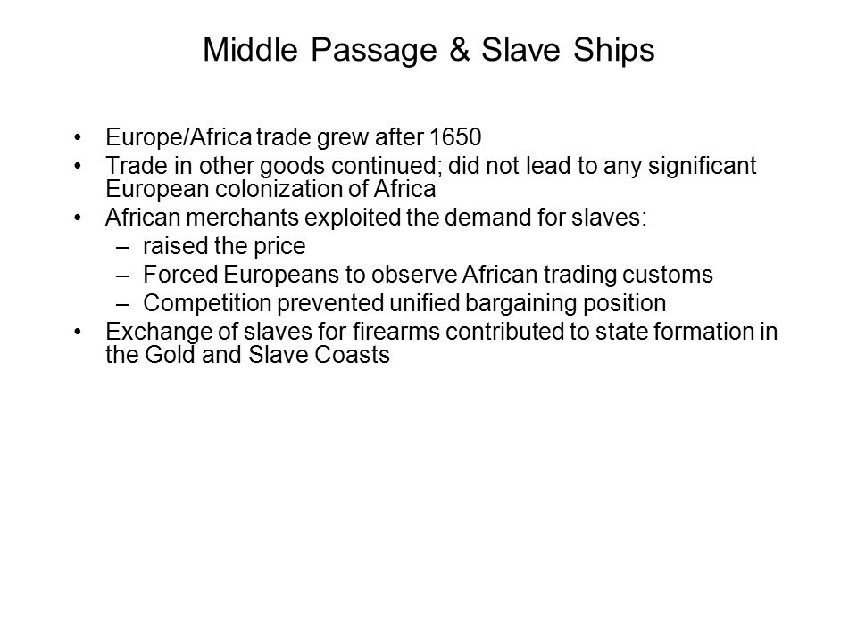 Middle Passage & Slave Ships