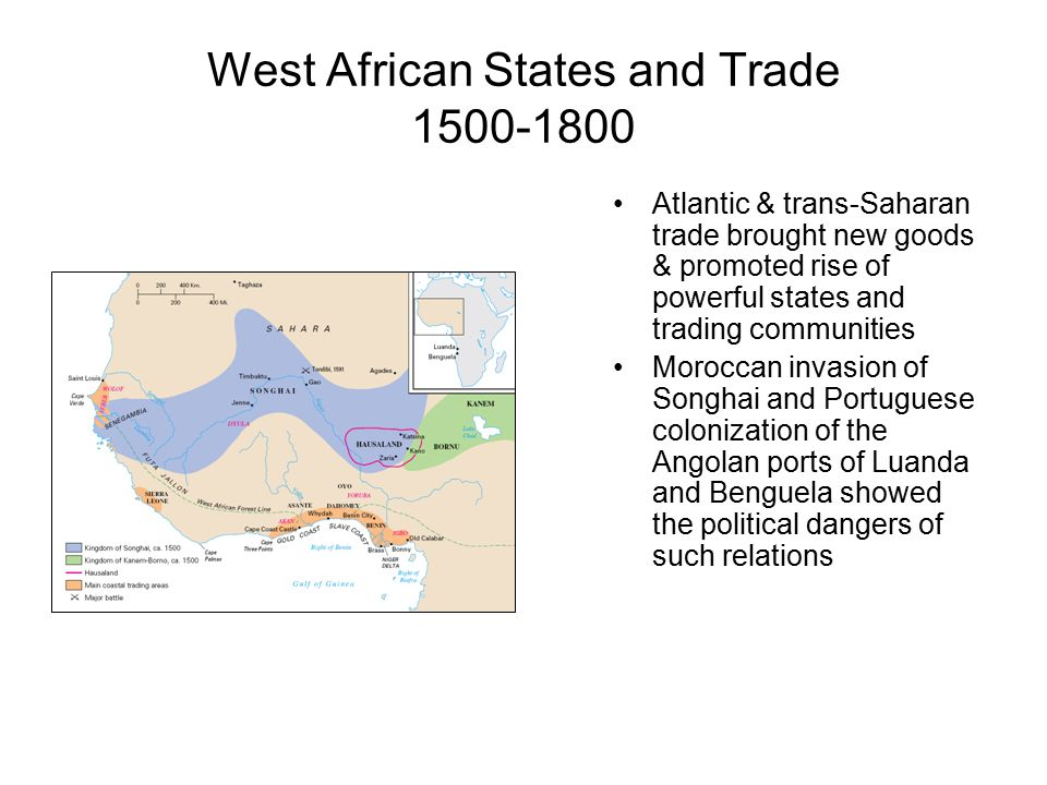 West African States and Trade 1500-1800