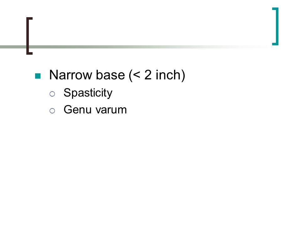 Narrow base (< 2 inch)