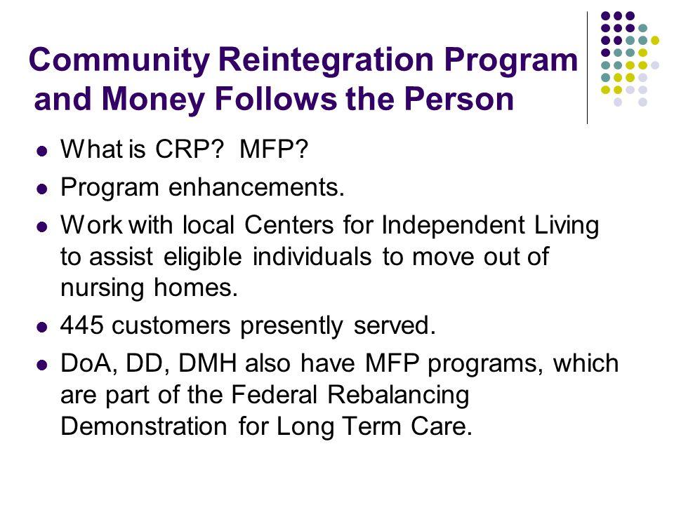 Community Reintegration Program and Money Follows the Person