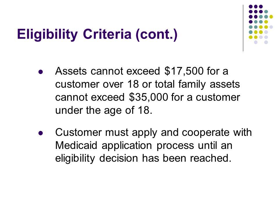 Eligibility Criteria (cont.)