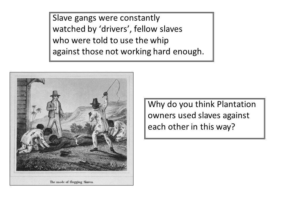 Slave gangs were constantly