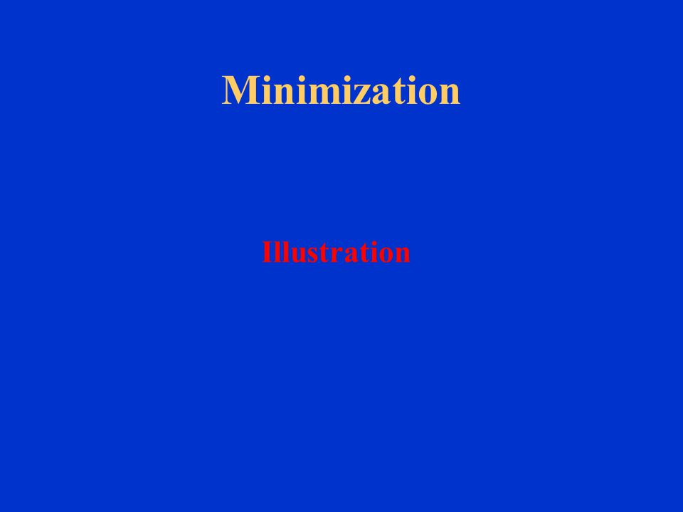 Minimization Illustration