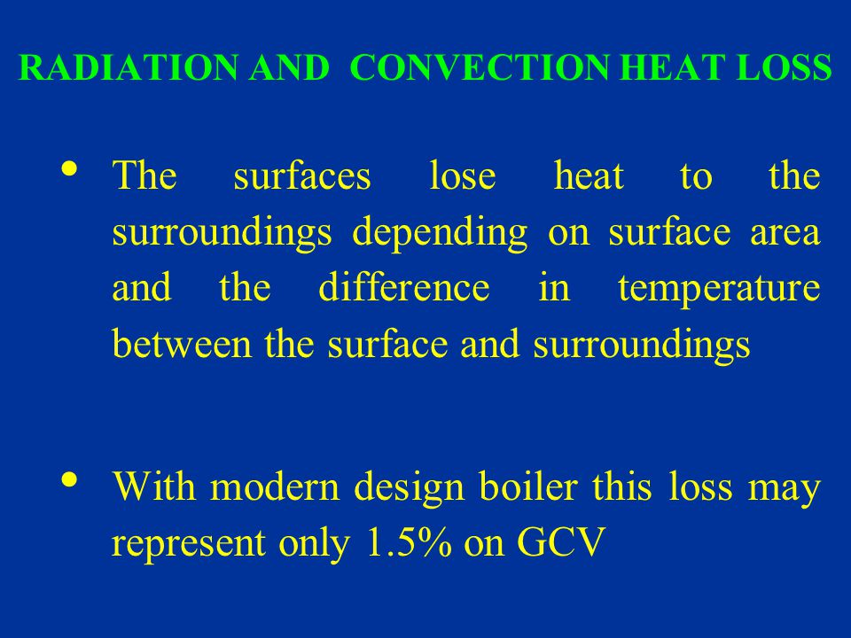 RADIATION AND CONVECTION HEAT LOSS