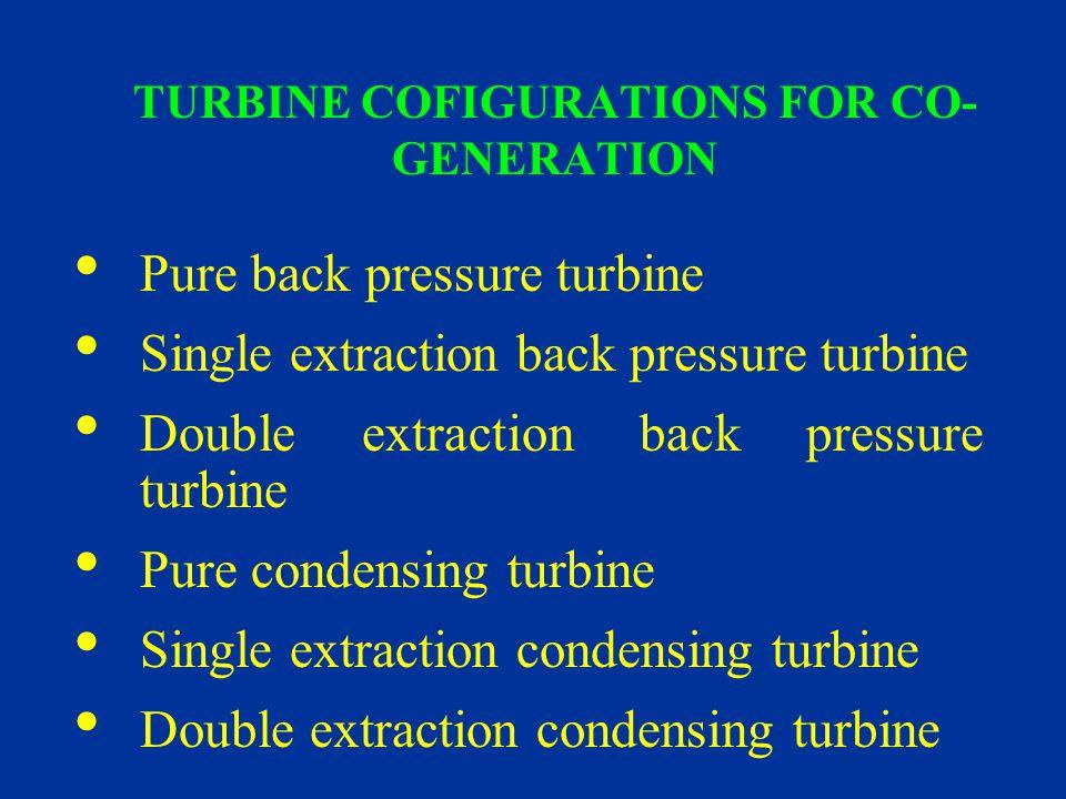 TURBINE COFIGURATIONS FOR CO-GENERATION
