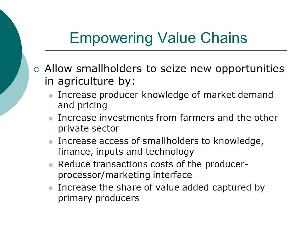 Empowering Value Chains