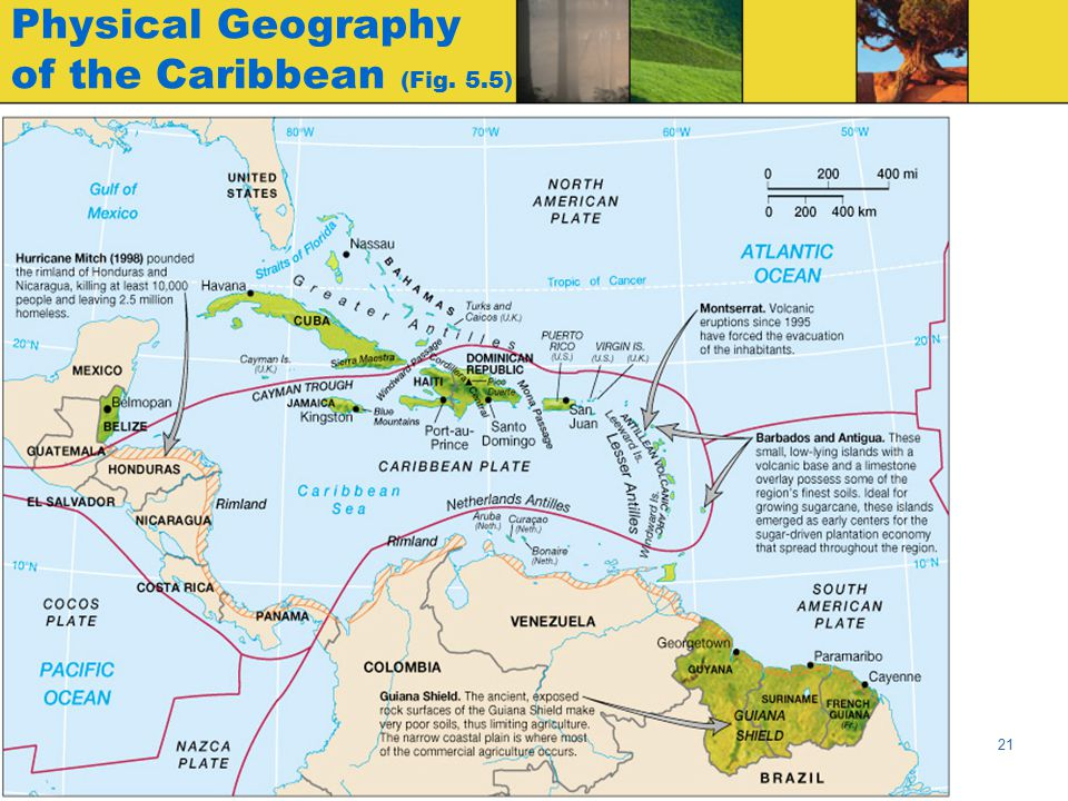 Physical Geography of the Caribbean (Fig. 5.5)