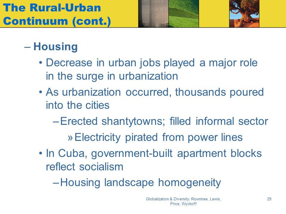 The Rural-Urban Continuum (cont.)
