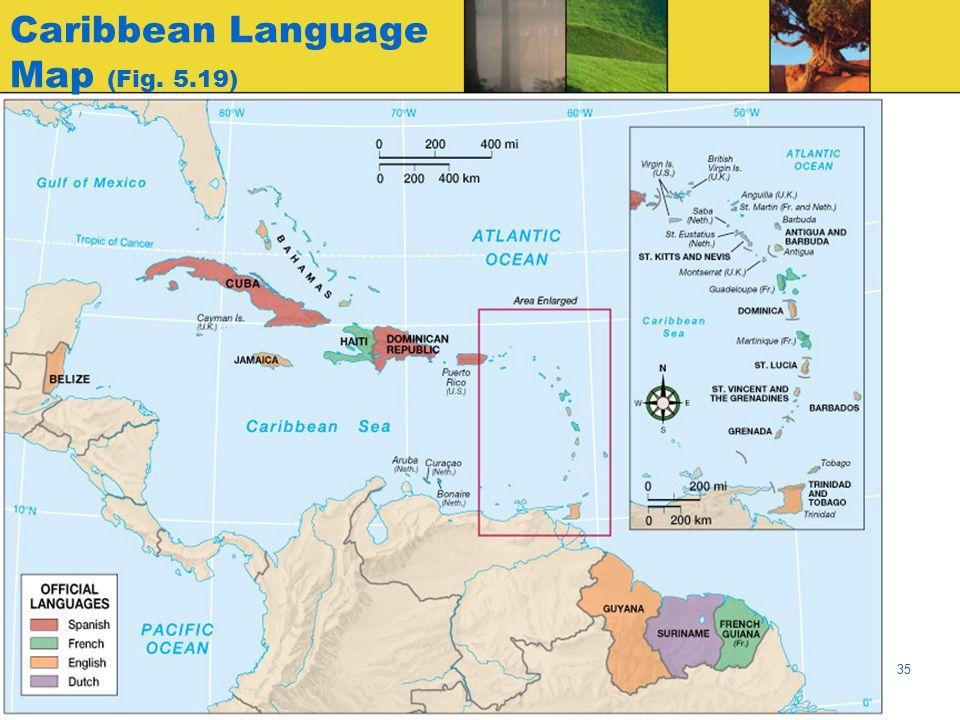 Caribbean Language Map (Fig. 5.19)