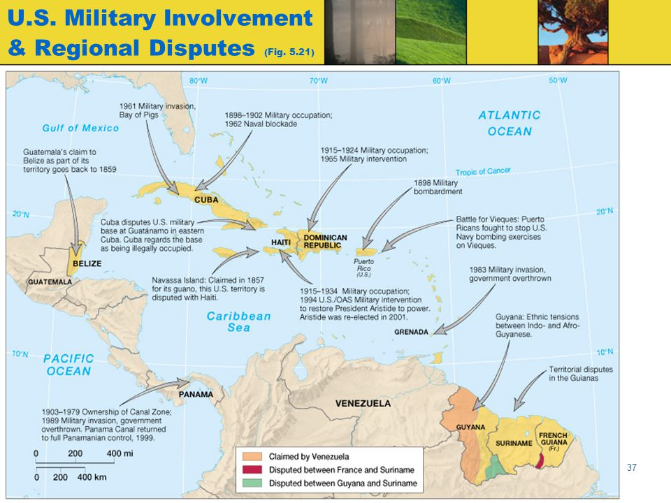 U.S. Military Involvement & Regional Disputes (Fig. 5.21)