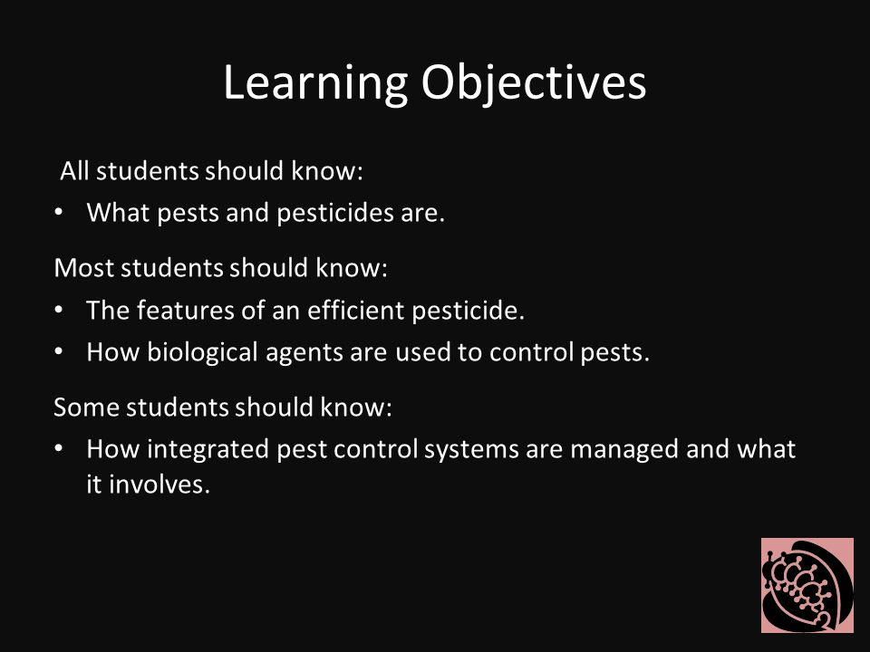 Learning Objectives All students should know: